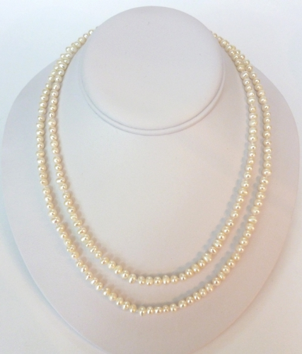 2 strand 5mm pearl necklace